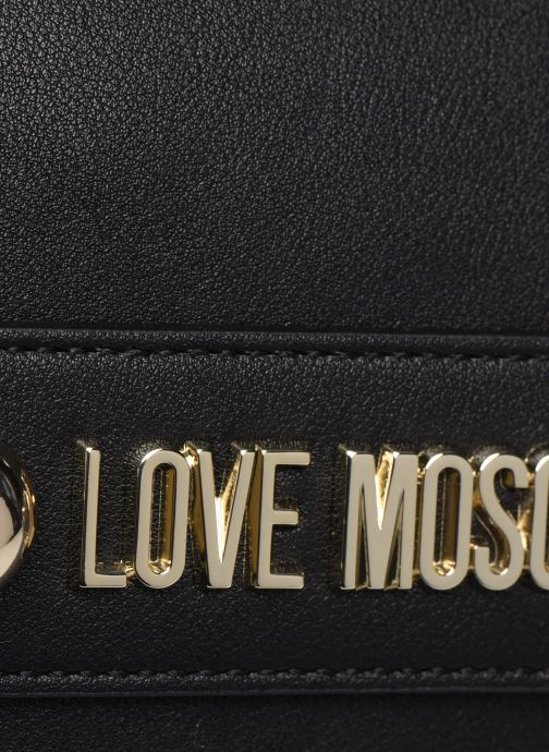 Handbags Love Moschino LETTERING LOVE MOSCHINO CROSSBODY Black view from the left