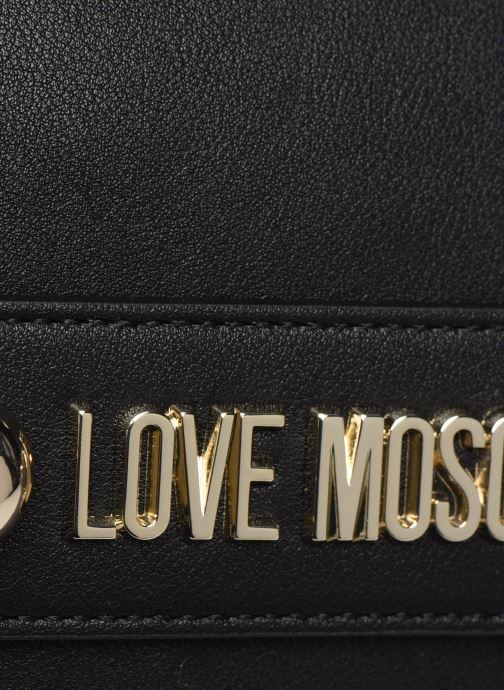 Handtaschen Love Moschino LETTERING LOVE MOSCHINO CROSSBODY schwarz ansicht von links