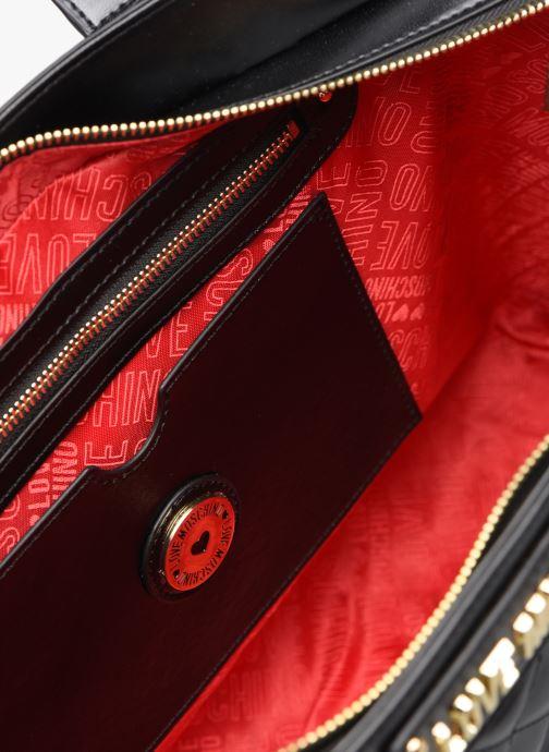 Handtaschen Love Moschino NEW SHINY QUILTED TOTE ZIP schwarz ansicht von hinten