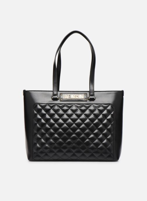 Handbags Love Moschino NEW SHINY QUILTED TOTE ZIP Black detailed view/ Pair view