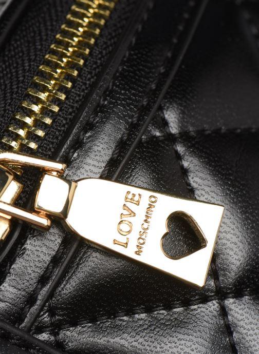Portemonnaies & Clutches Love Moschino NEW SHINY QUILTED WAISTBAG schwarz ansicht von links