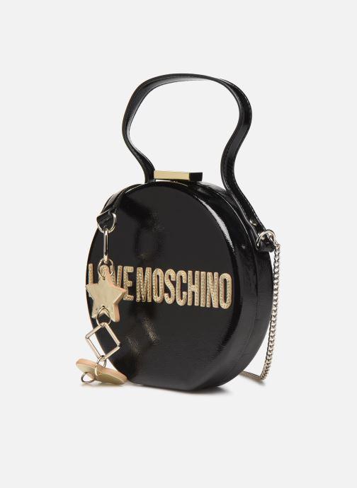 Sacs à main Love Moschino PEACE LOVE & STARS CROSSBODY Noir vue portées chaussures