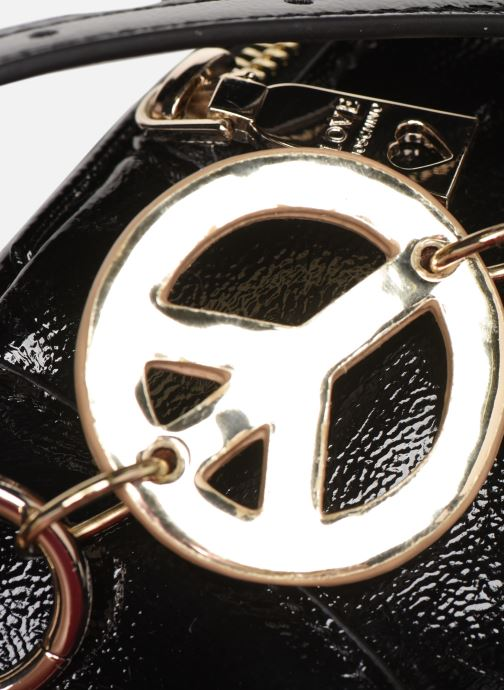 Kleine lederwaren Love Moschino PEACE LOVE & STARS WAIST BAG Zwart links