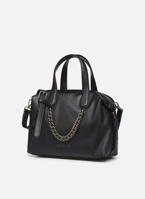 Handbags Love Moschino EASY CHAIN EASY GO SATCHEL Black model view