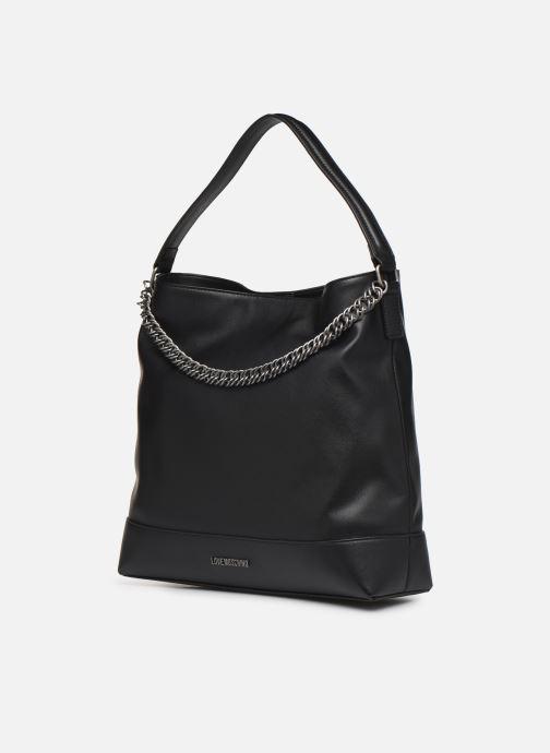 Handbags Love Moschino EASY CHAIN EASY GO HOBO Black model view