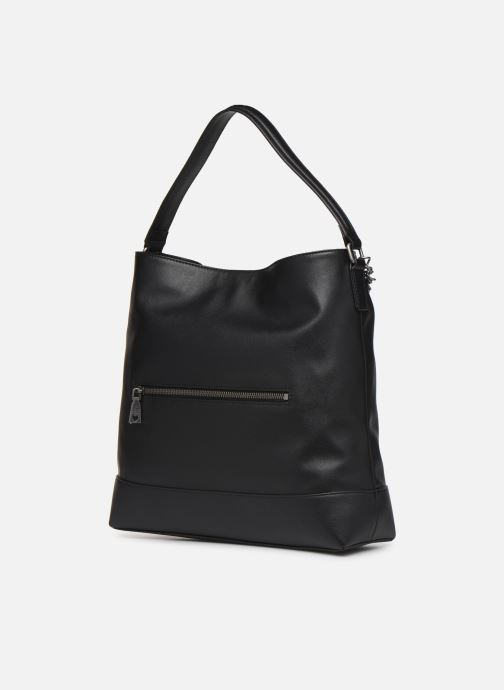 Handbags Love Moschino EASY CHAIN EASY GO HOBO Black view from the right