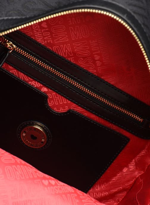 Rucksacks Love Moschino NEW LOGO JACQUARD BACKPACK Black back view
