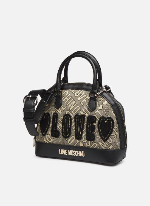 Handtaschen Love Moschino NEW FUN JACQUARD gold/bronze schuhe getragen