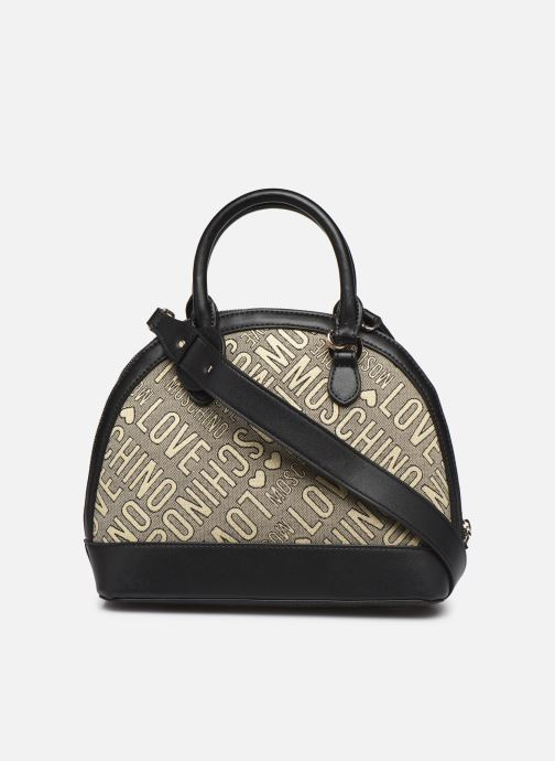 Handbags Love Moschino NEW FUN JACQUARD Bronze and Gold front view