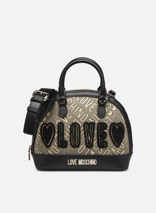Handbags Love Moschino NEW FUN JACQUARD Bronze and Gold detailed view/ Pair view