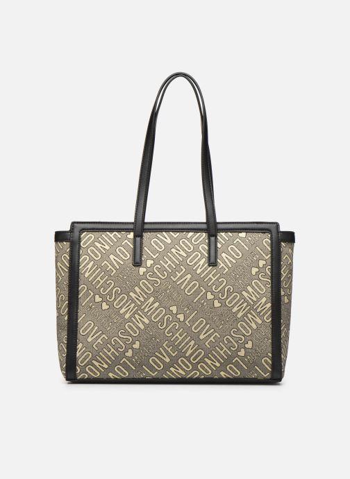 Handtaschen Love Moschino NEW FUN JACQUARD CABAS gold/bronze ansicht von vorne