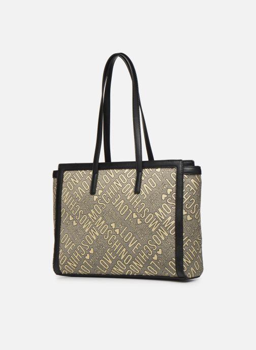 Handtaschen Love Moschino NEW FUN JACQUARD CABAS gold/bronze ansicht von rechts