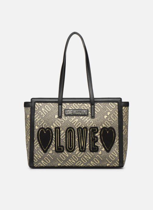 Sacs à main Love Moschino NEW FUN JACQUARD CABAS Or et bronze vue détail/paire