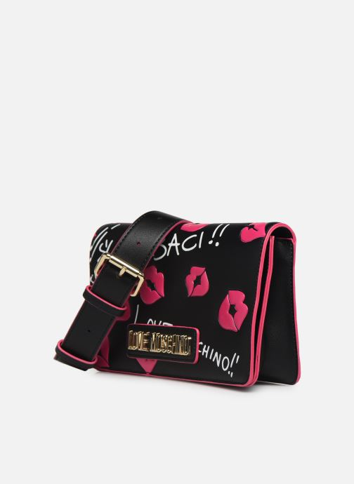 Sacs pochettes Love Moschino BACHI BACHI CROSSBODY Noir vue portées chaussures