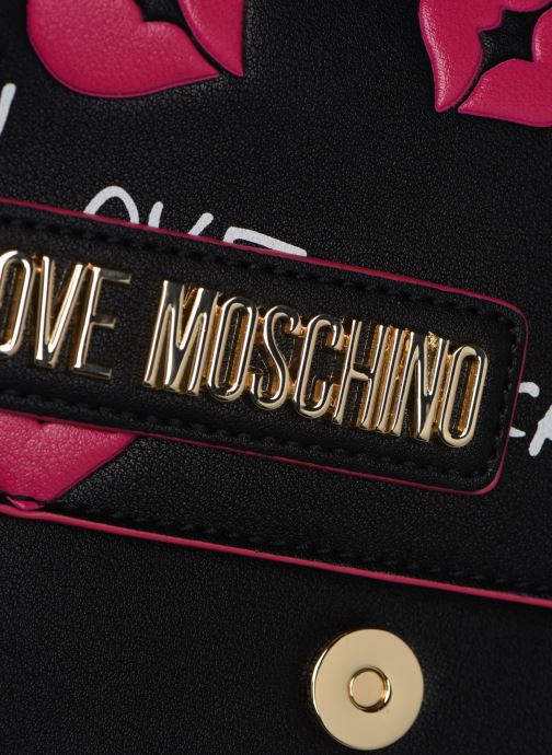 Clutch Love Moschino BACHI BACHI CROSSBODY Zwart links