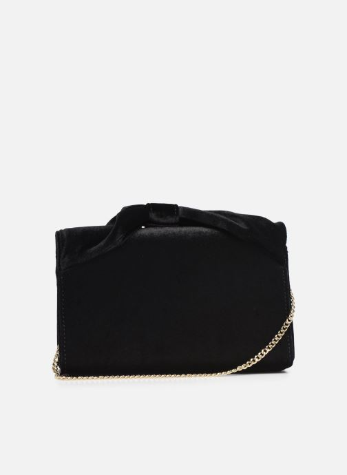 Handbags Love Moschino EVENING BAG VELVET Black front view