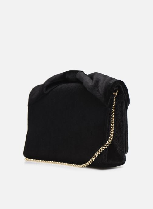 Handbags Love Moschino EVENING BAG VELVET Black view from the right