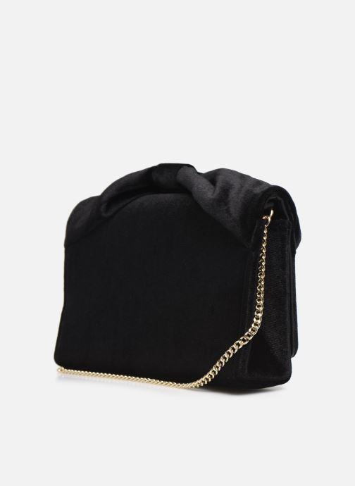 Handtaschen Love Moschino EVENING BAG VELVET schwarz ansicht von rechts