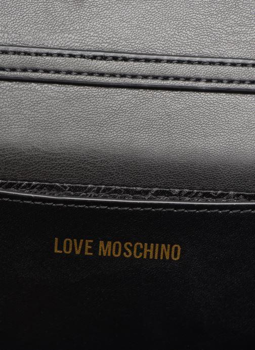 Handtassen Love Moschino EVENING BAG VELVET Zwart achterkant