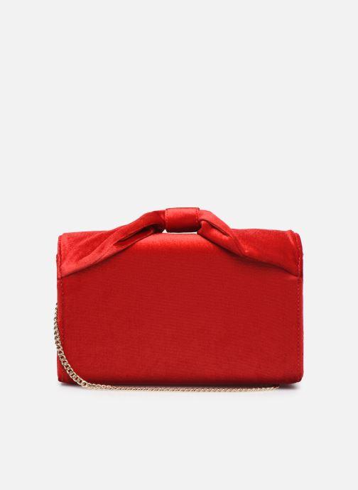 Handbags Love Moschino EVENING BAG VELVET Red front view