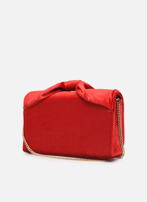 Handbags Love Moschino EVENING BAG VELVET Red view from the right