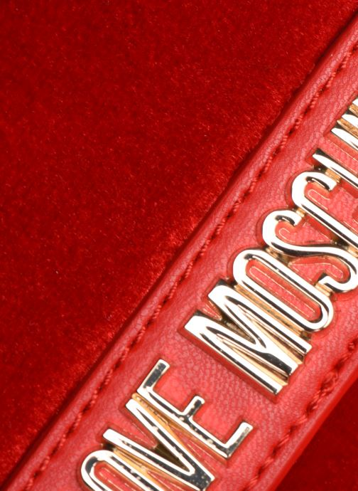 Handbags Love Moschino EVENING BAG VELVET Red view from the left