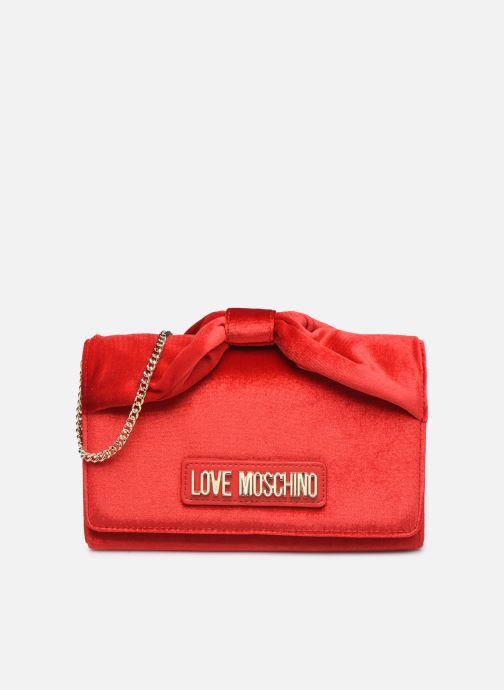 Handbags Love Moschino EVENING BAG VELVET Red detailed view/ Pair view