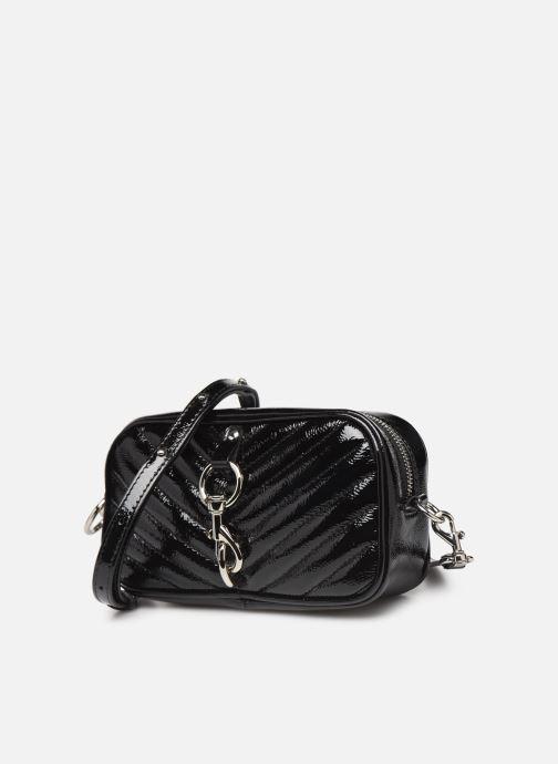 Pochette Rebecca Minkoff CAMERA BELT BAG NAPLACK Nero modello indossato