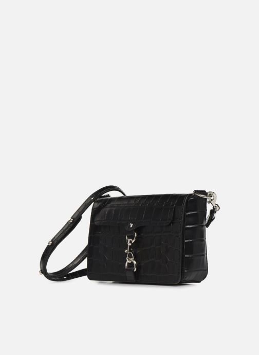 Handbags Rebecca Minkoff MAB FLAP CROSSBODY CROCCO Black model view