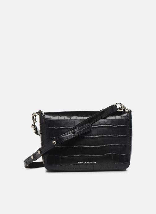 Handbags Rebecca Minkoff MAB FLAP CROSSBODY CROCCO Black front view
