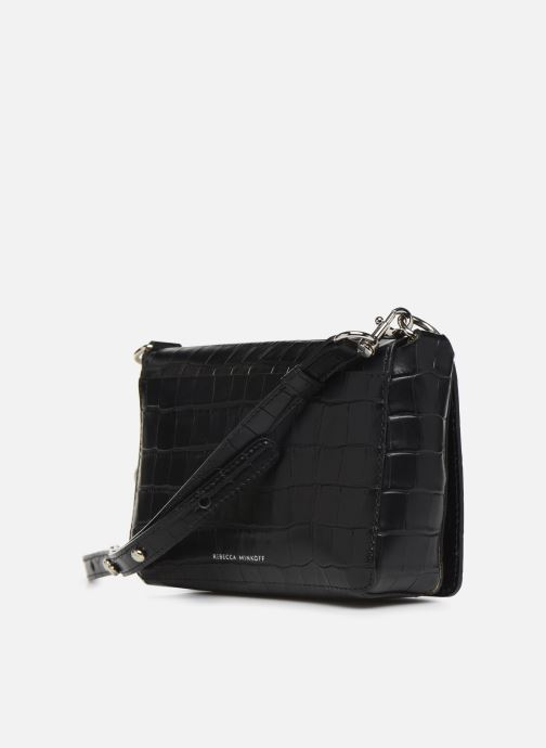 Handbags Rebecca Minkoff MAB FLAP CROSSBODY CROCCO Black view from the right