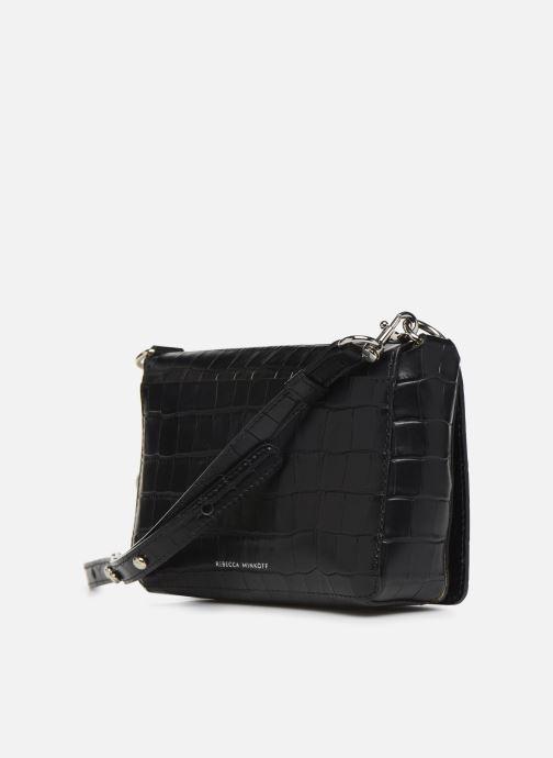 Handtaschen Rebecca Minkoff MAB FLAP CROSSBODY CROCCO schwarz ansicht von rechts
