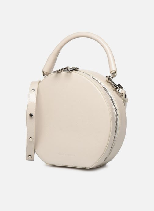 Sacs à main Rebecca Minkoff CIRCLE BAG CROSSBODY NAPLACK Blanc vue portées chaussures
