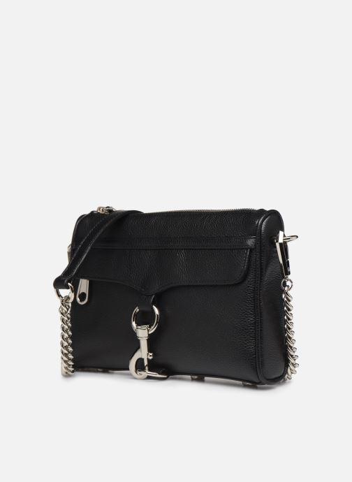 Handbags Rebecca Minkoff MINI MAC PEBBLE  With chain strap Black model view