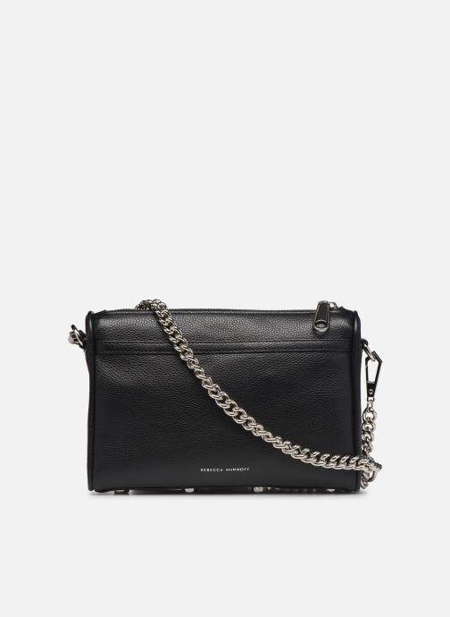 Handbags Rebecca Minkoff MINI MAC PEBBLE  With chain strap Black front view