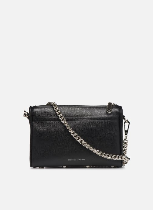 Sacs à main Rebecca Minkoff MINI MAC PEBBLE  With chain strap Noir vue face