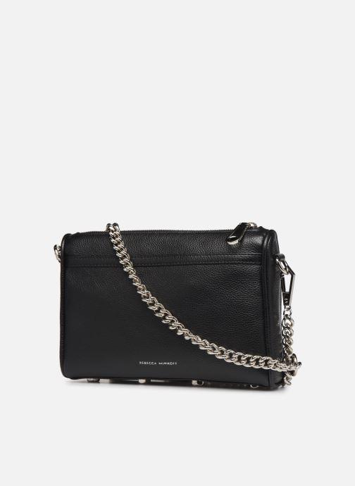 Handbags Rebecca Minkoff MINI MAC PEBBLE  With chain strap Black view from the right
