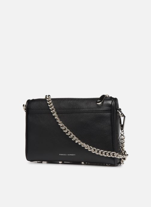 Sacs à main Rebecca Minkoff MINI MAC PEBBLE  With chain strap Noir vue droite
