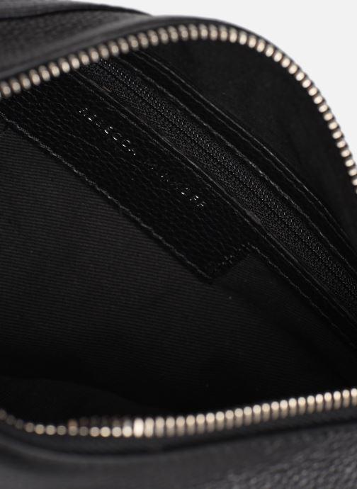 Handbags Rebecca Minkoff MINI MAC PEBBLE  With chain strap Black back view