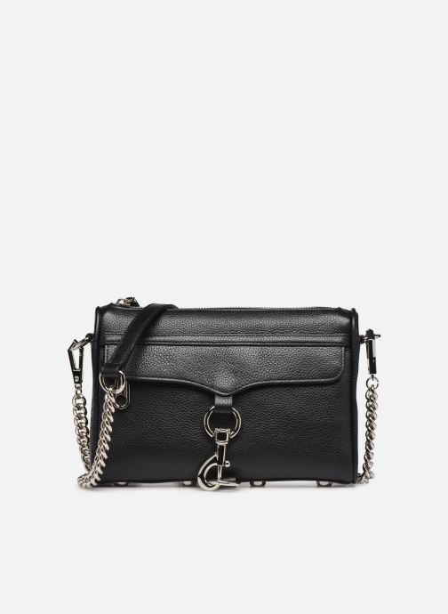 Handbags Rebecca Minkoff MINI MAC PEBBLE  With chain strap Black detailed view/ Pair view
