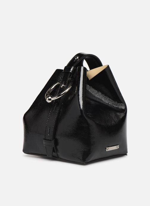 Sacs à main Rebecca Minkoff MINI KATE BUCKET NAPLACK Noir vue portées chaussures