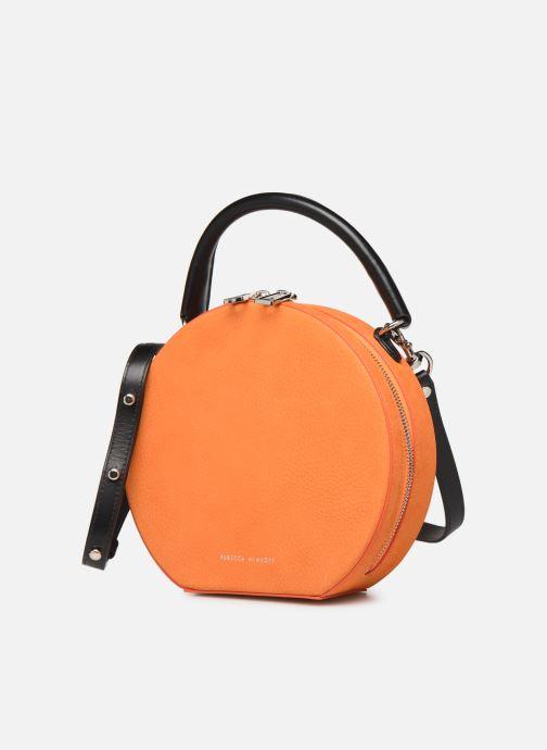 Sacs à main Rebecca Minkoff CIRCLE BAG CROSSBODY NUBUCK Orange vue portées chaussures