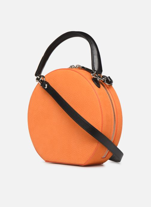 Sacs à main Rebecca Minkoff CIRCLE BAG CROSSBODY NUBUCK Orange vue droite