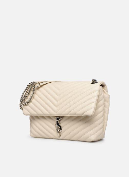 Handtaschen Rebecca Minkoff EDIE FLAP SHOULDER BAG PEBBLE beige schuhe getragen