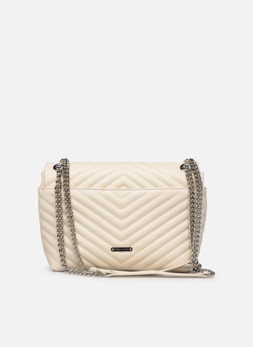 Handtaschen Rebecca Minkoff EDIE FLAP SHOULDER BAG PEBBLE beige ansicht von vorne