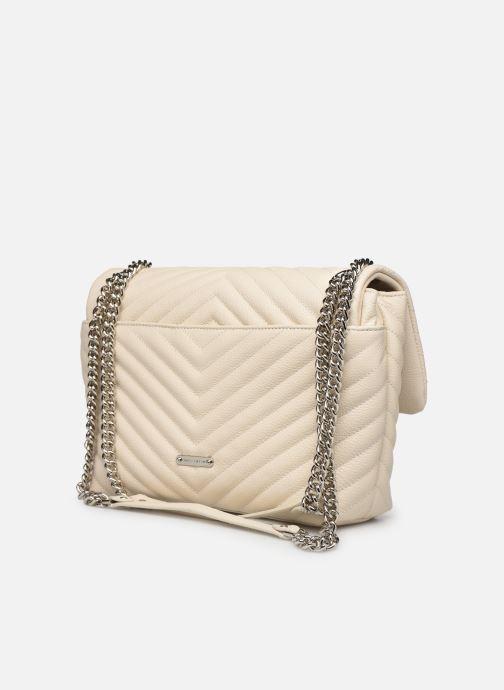 Handtaschen Rebecca Minkoff EDIE FLAP SHOULDER BAG PEBBLE beige ansicht von rechts