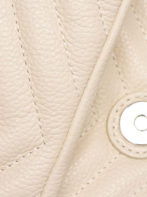 Handtaschen Rebecca Minkoff EDIE FLAP SHOULDER BAG PEBBLE beige ansicht von links