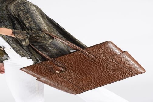 Sacs à main Lauren Ralph Lauren CARLYLE Noir vue bas / vue portée sac