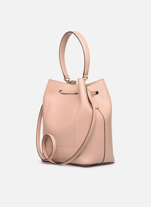 Handtaschen Lauren Ralph Lauren DEBBY DRAWSTRING rosa ansicht von rechts