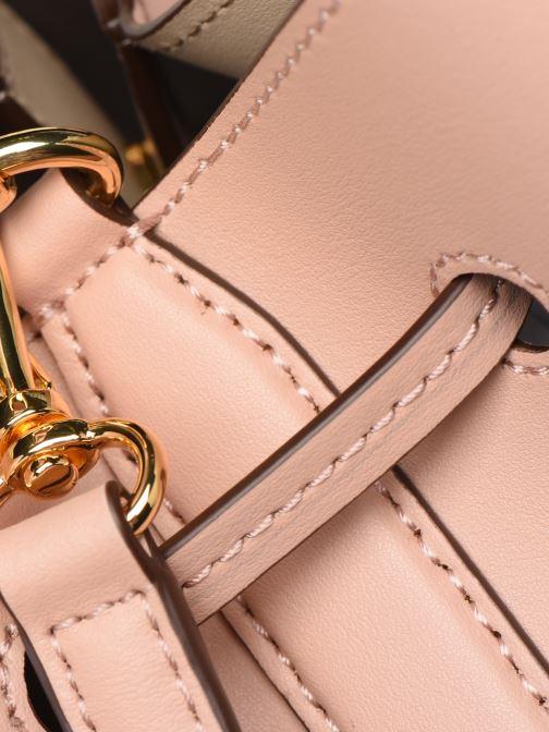 Bolsos de mano Lauren Ralph Lauren DEBBY DRAWSTRING Rosa vista lateral izquierda